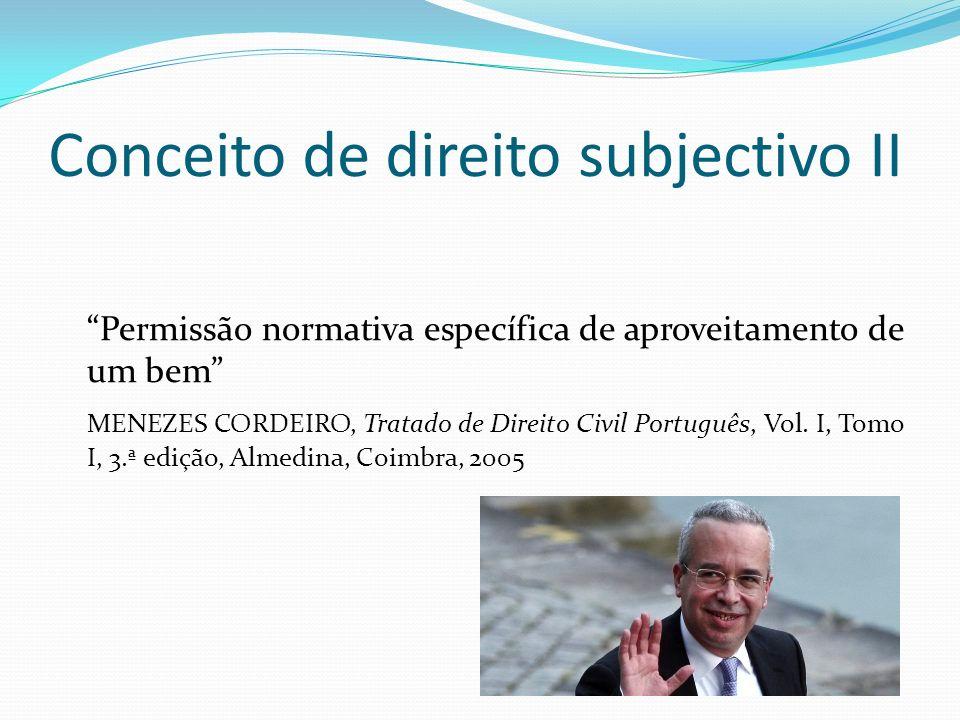 Conceito de direito subjectivo II