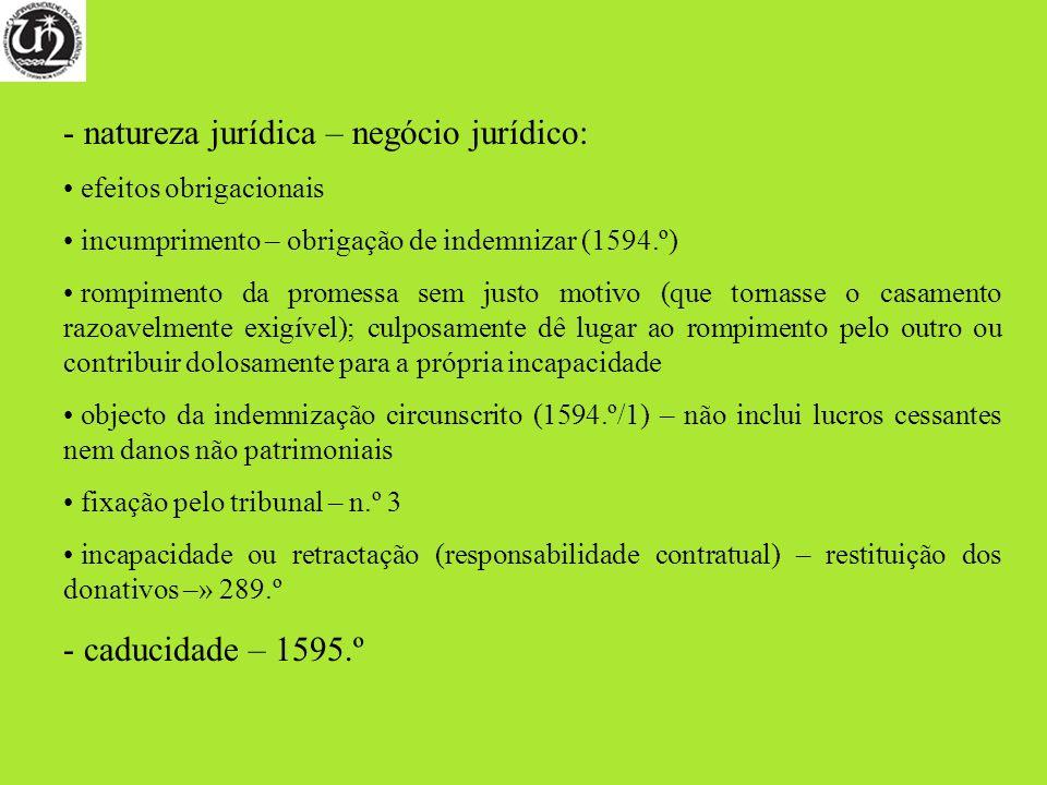 natureza jurídica – negócio jurídico: