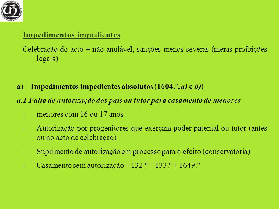Impedimentos impedientes