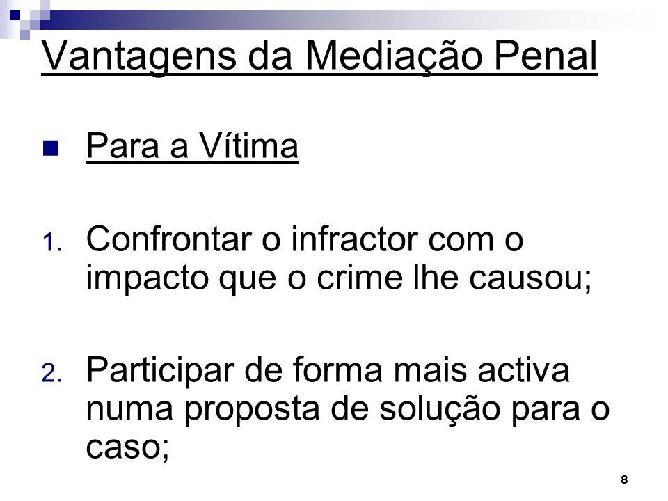 Vantagens da Mediação Penal