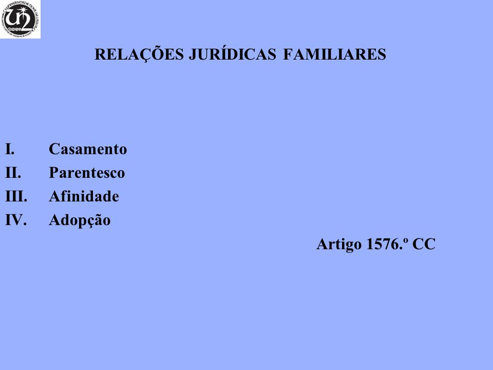 RELAÇÕES JURÍDICAS FAMILIARES