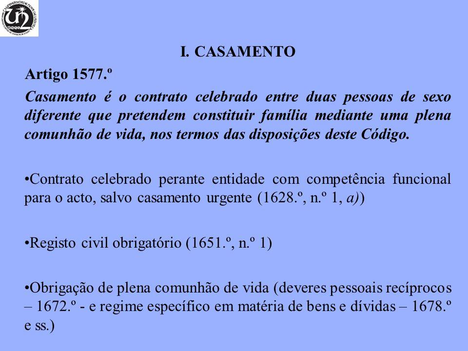 CASAMENTO Artigo 1577.º.