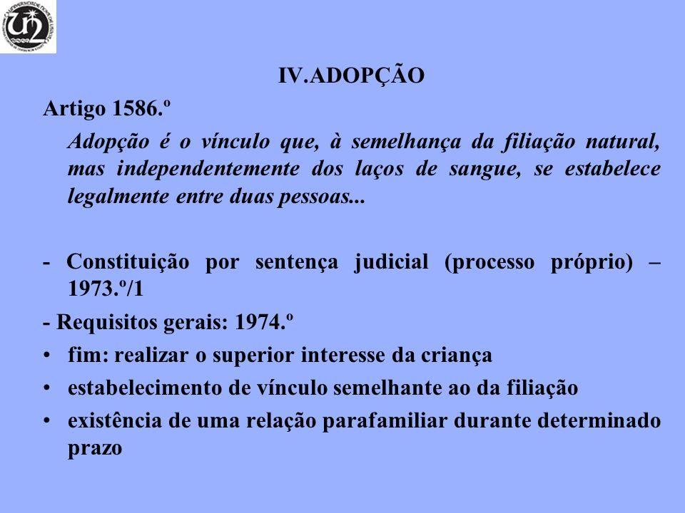 ADOPÇÃO Artigo 1586.º.