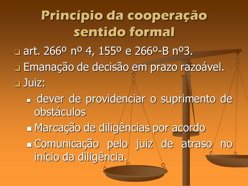 Princípio da cooperação sentido formal
