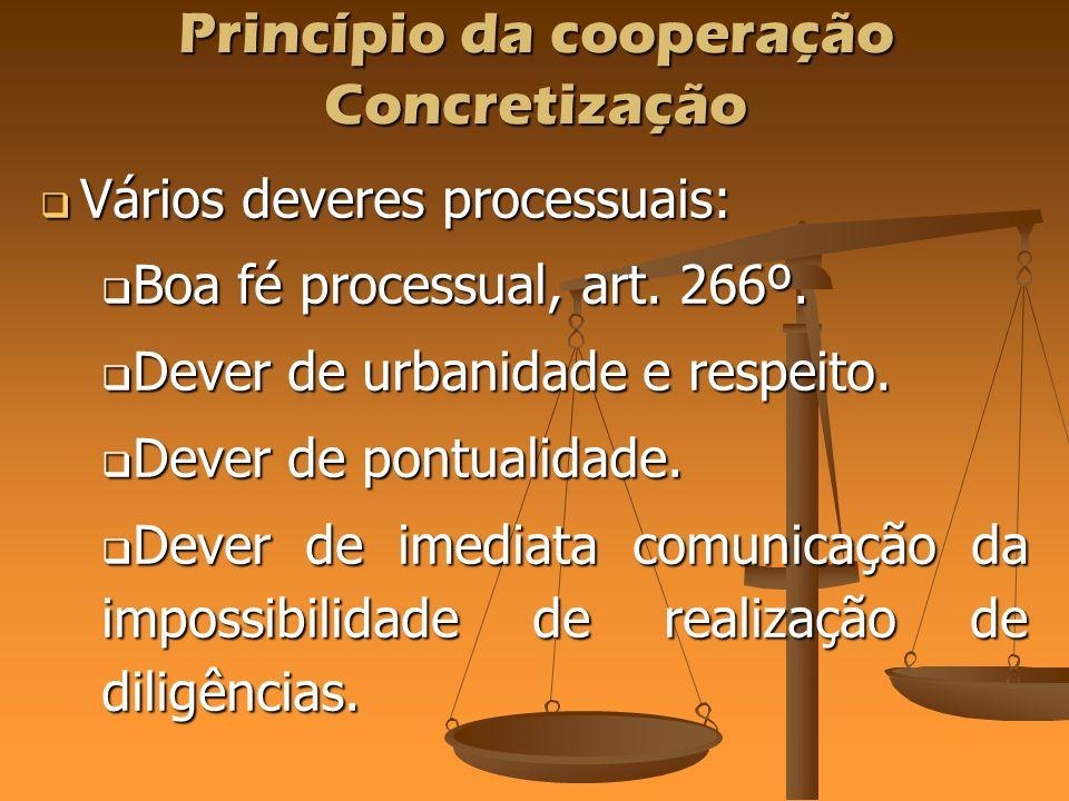 Princípio da cooperação Concretização