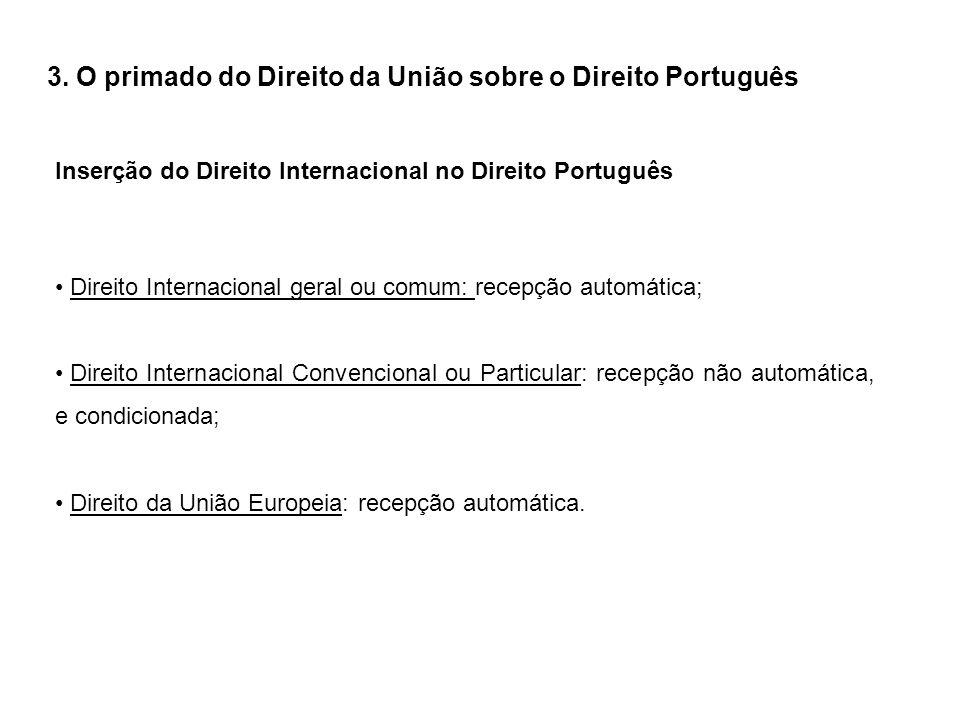 3. O primado do Direito da União sobre o Direito Português