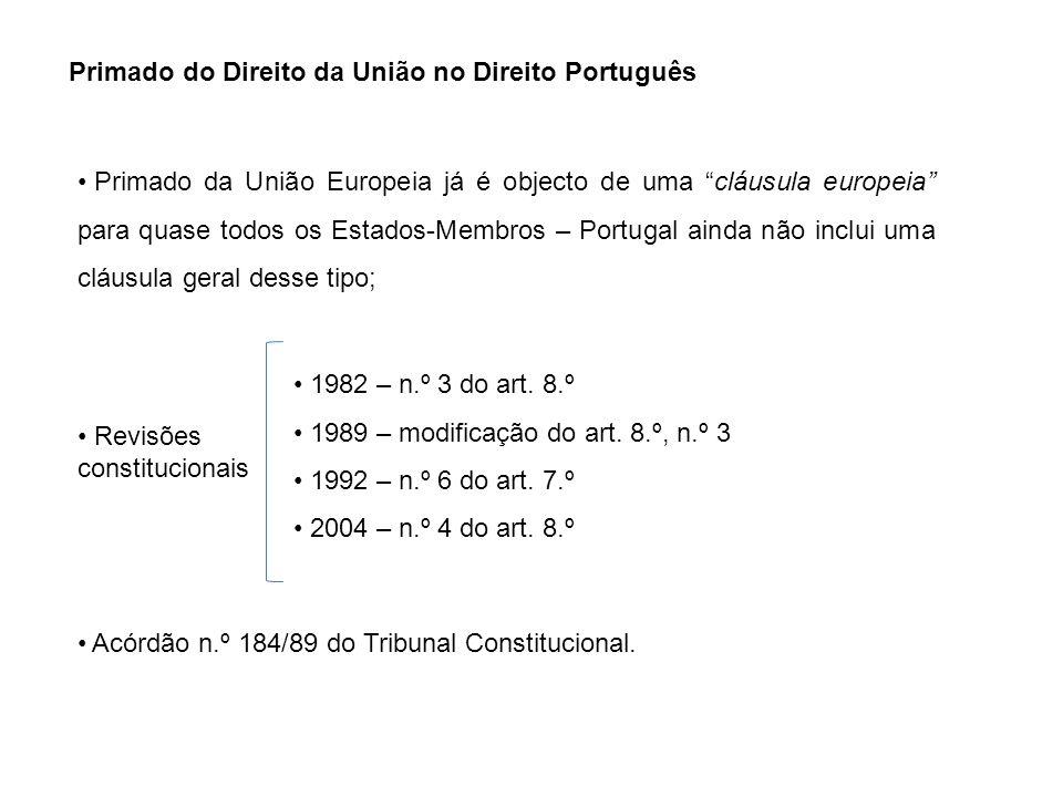 Primado do Direito da União no Direito Português