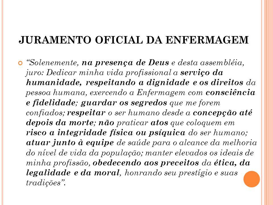 JURAMENTO OFICIAL DA ENFERMAGEM