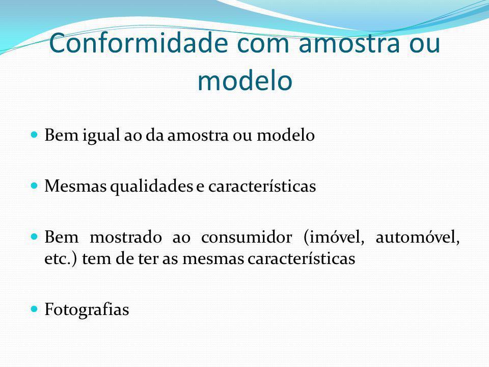 Conformidade com amostra ou modelo