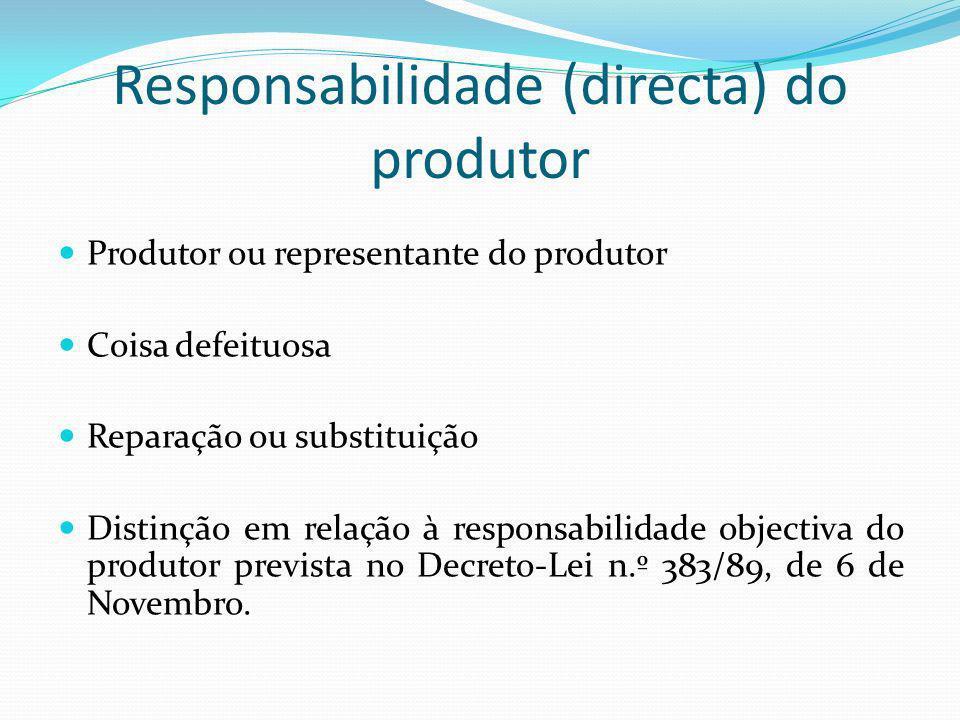 Responsabilidade (directa) do produtor