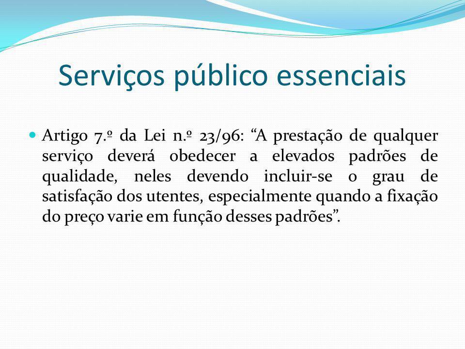 Serviços público essenciais