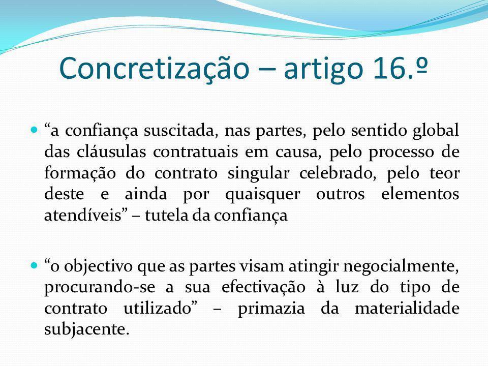 Concretização – artigo 16.º