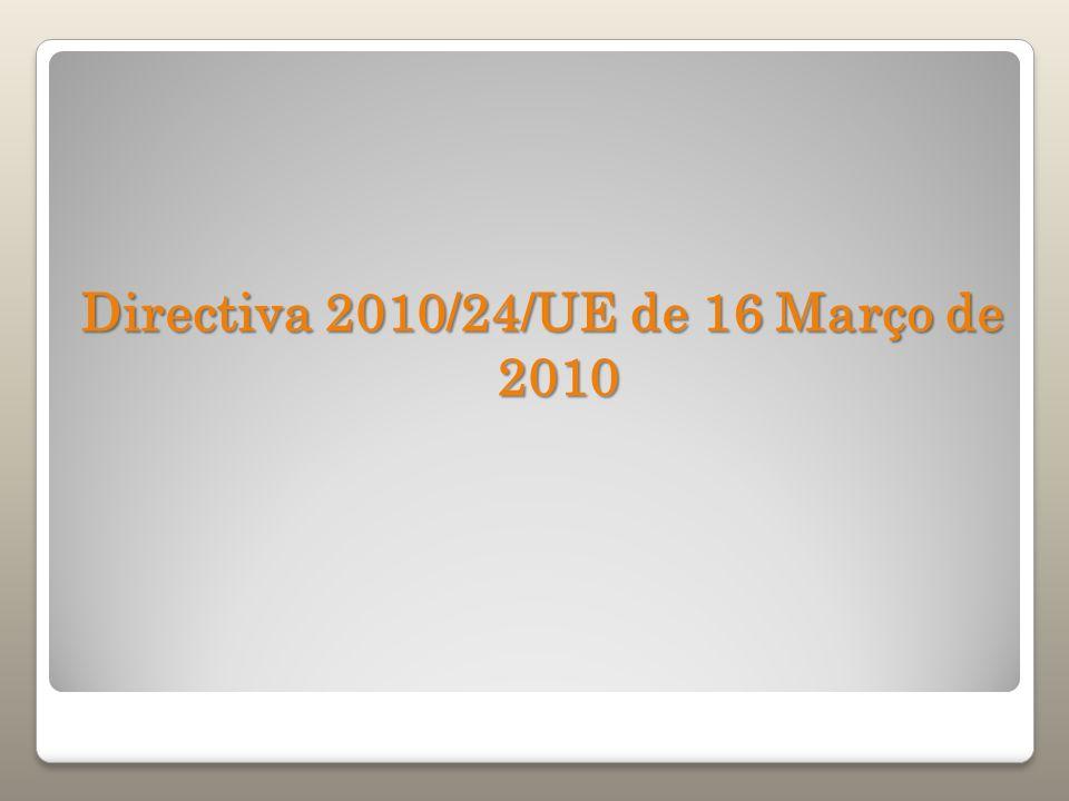 Directiva 2010/24/UE de 16 Março de 2010
