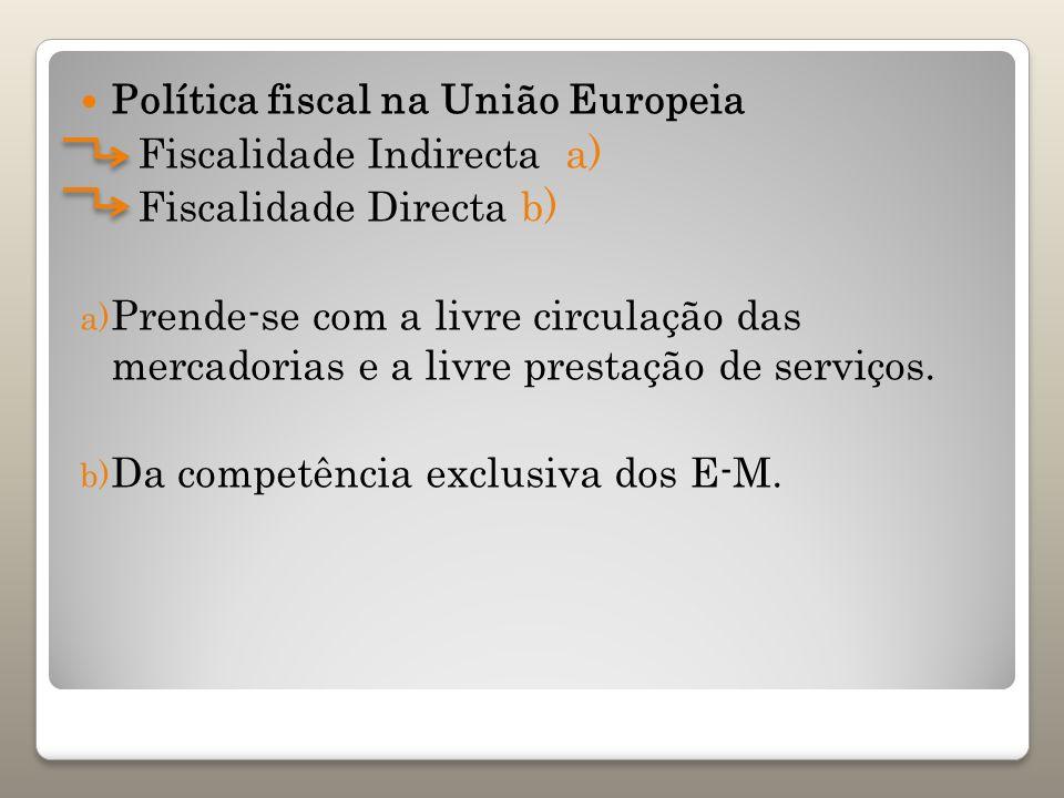 Política fiscal na União Europeia