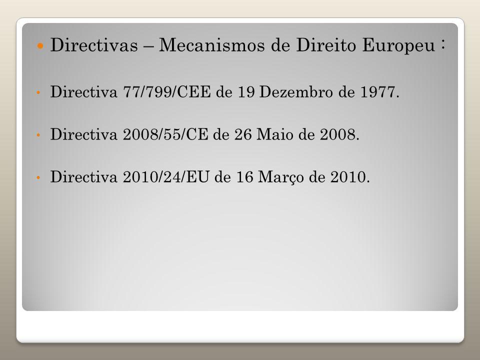 Directivas – Mecanismos de Direito Europeu :
