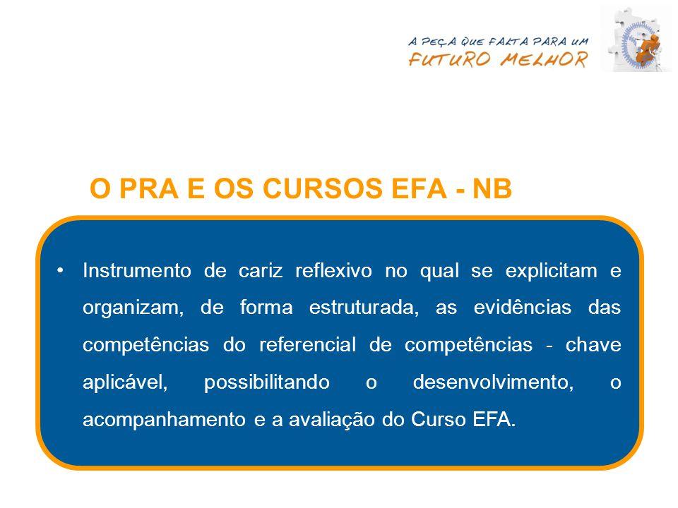 O PRA E OS CURSOS EFA - NB