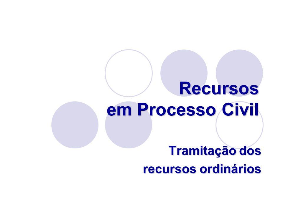 Recursos em Processo Civil