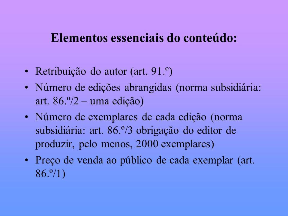Elementos essenciais do conteúdo:
