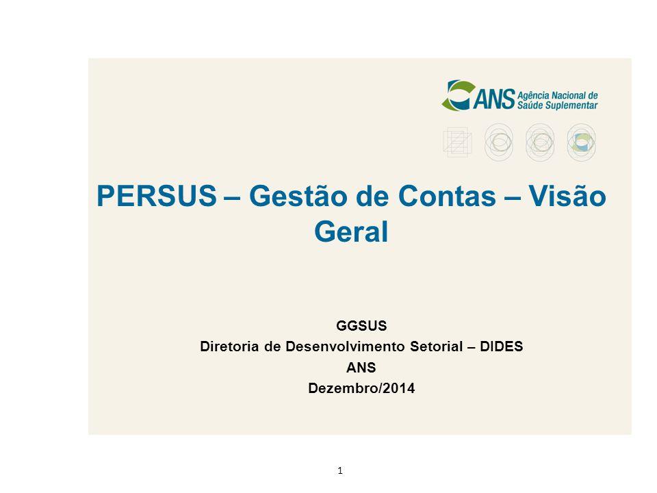 PERSUS – Gestão de Contas – Visão Geral