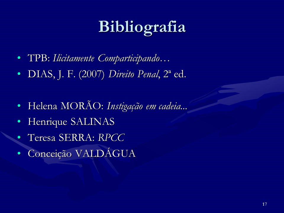 Bibliografia TPB: Ilicitamente Comparticipando…