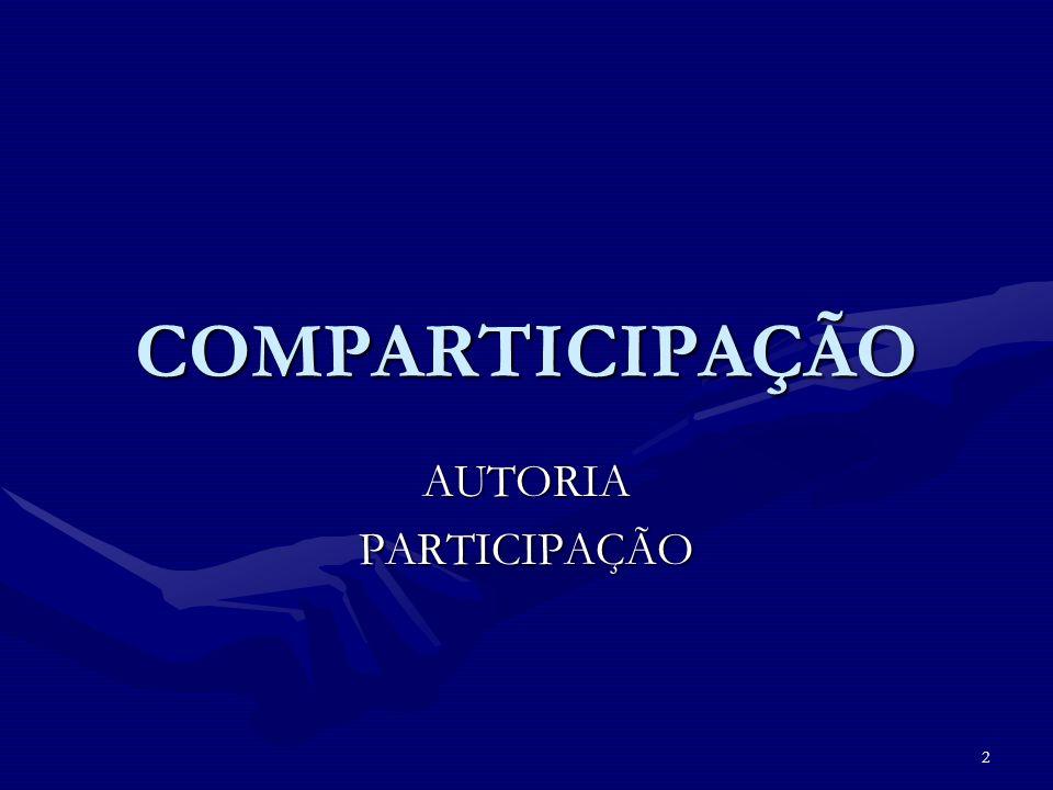 COMPARTICIPAÇÃO AUTORIA PARTICIPAÇÃO