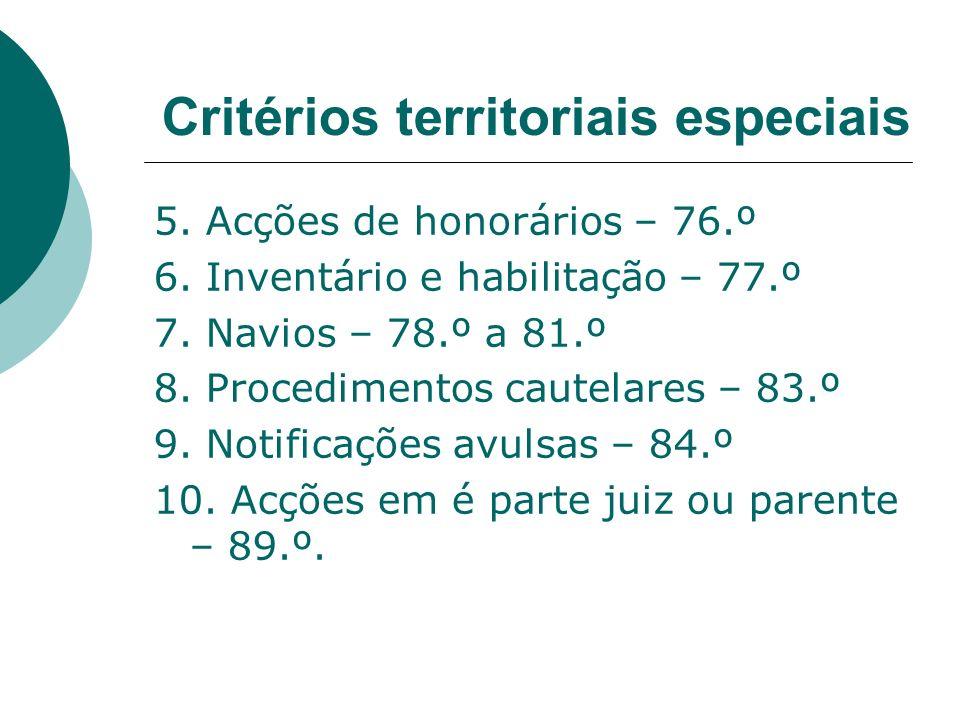 Critérios territoriais especiais