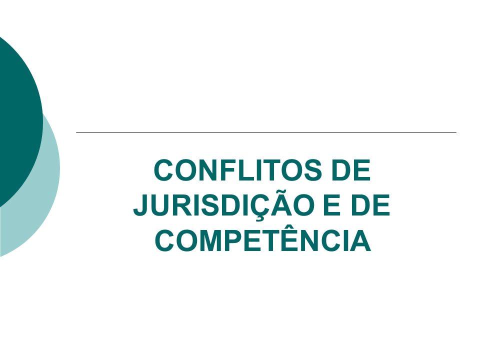 CONFLITOS DE JURISDIÇÃO E DE COMPETÊNCIA
