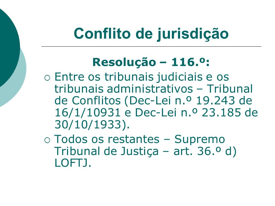 Conflito de jurisdição