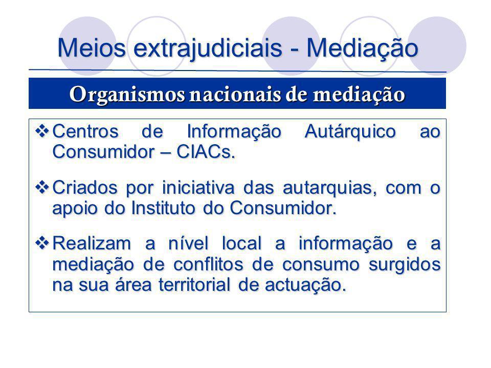 Meios extrajudiciais - Mediação