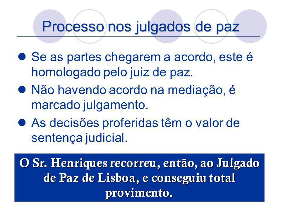 Processo nos julgados de paz