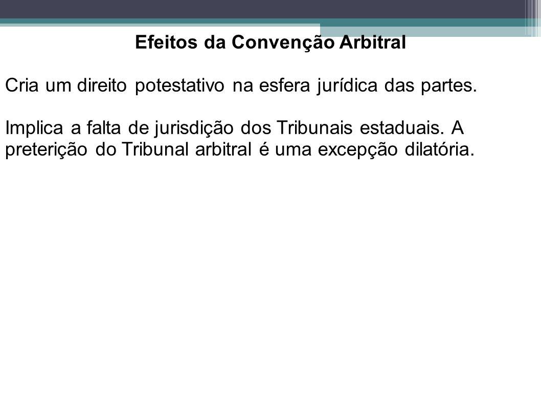 Efeitos da Convenção Arbitral
