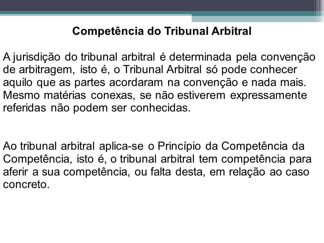 Competência do Tribunal Arbitral