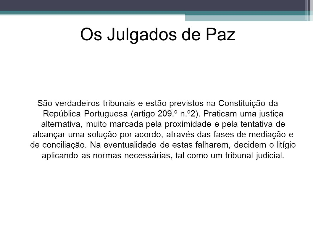 Os Julgados de Paz