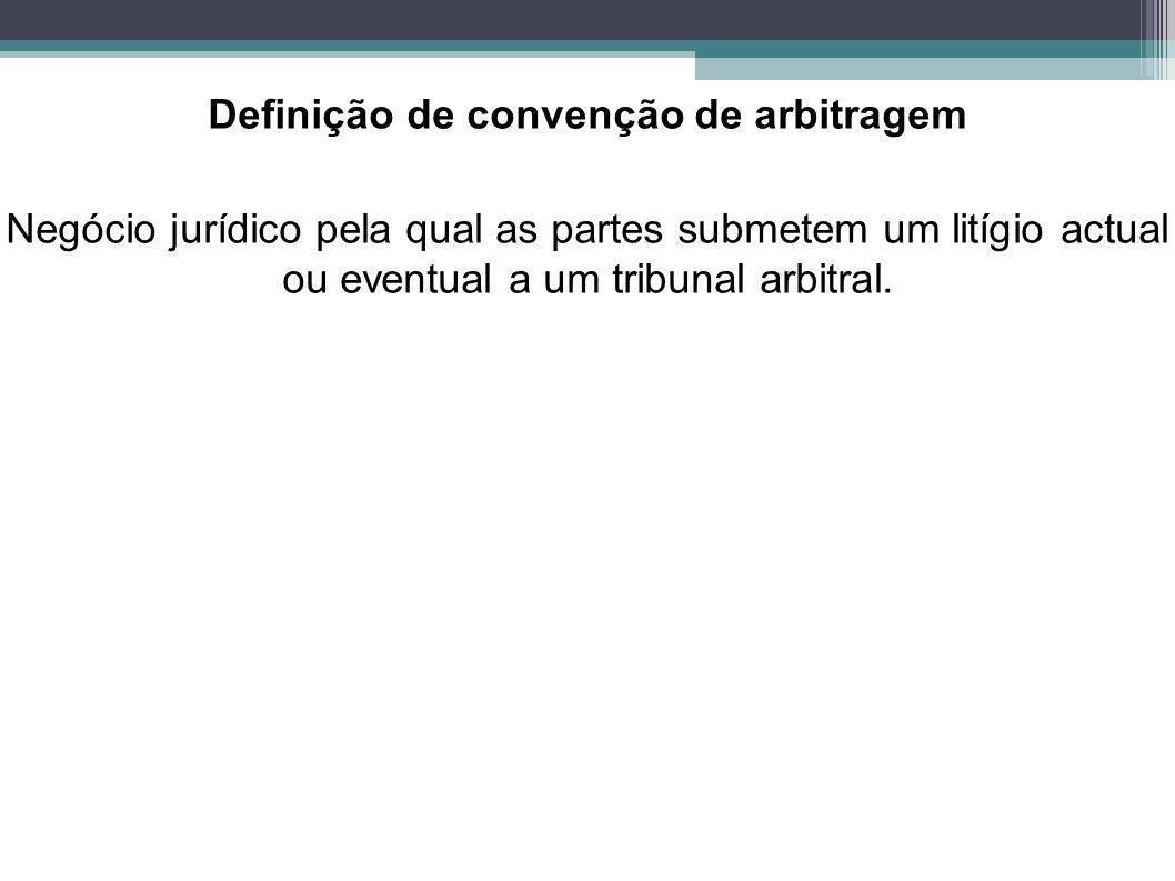 Definição de convenção de arbitragem