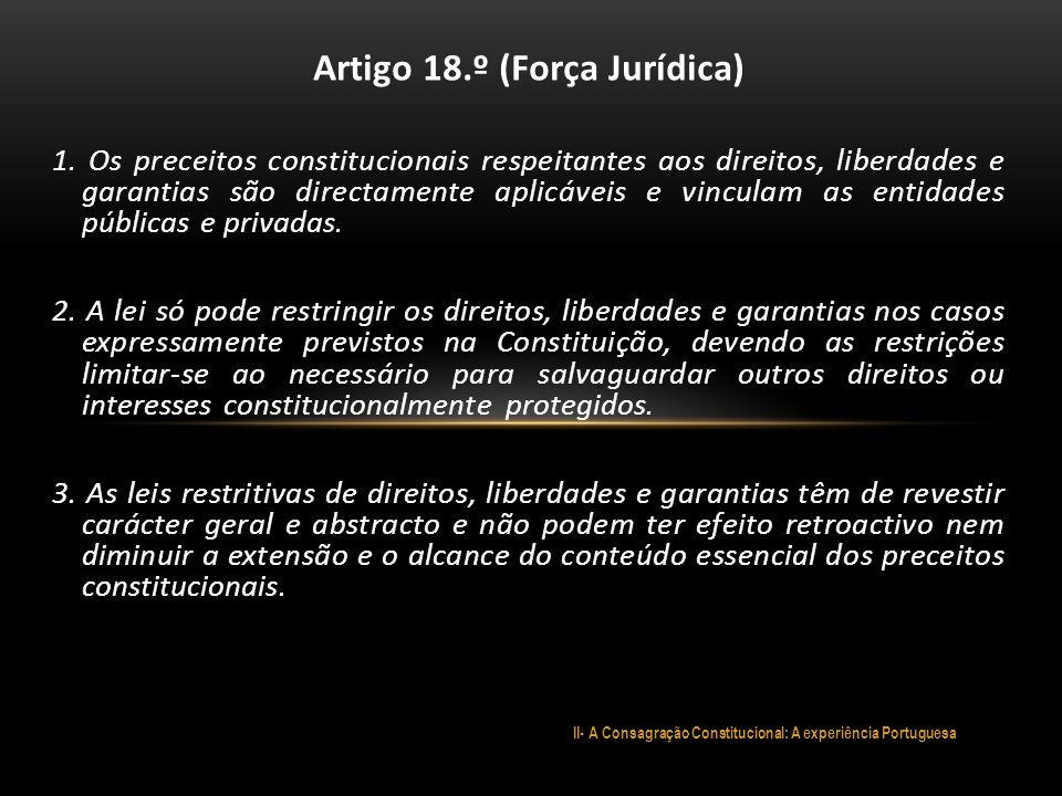 Artigo 18.º (Força Jurídica)