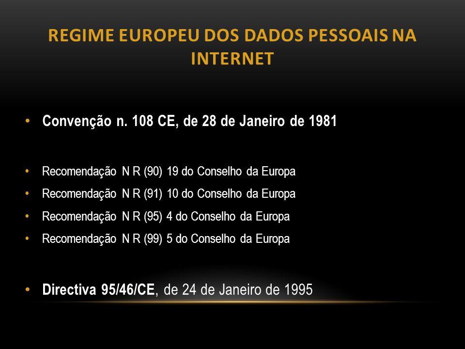 Regime europeu dos dados pessoais na internet