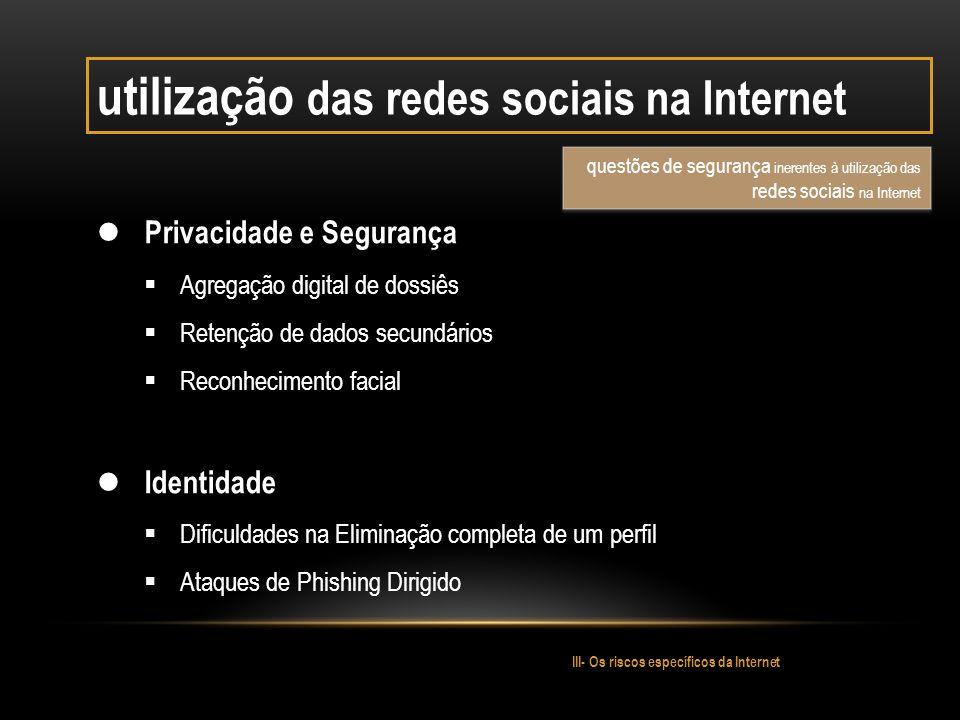 utilização das redes sociais na Internet