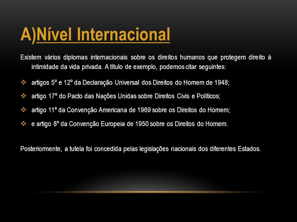 Nível Internacional