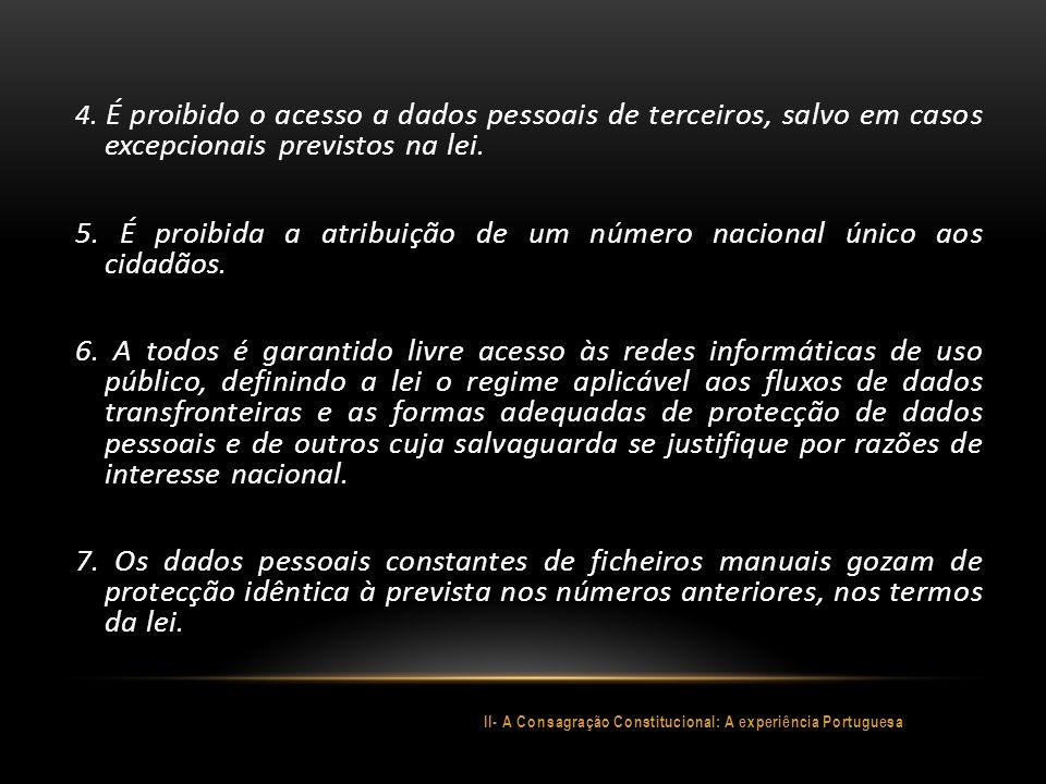 II- A Consagração Constitucional: A experiência Portuguesa