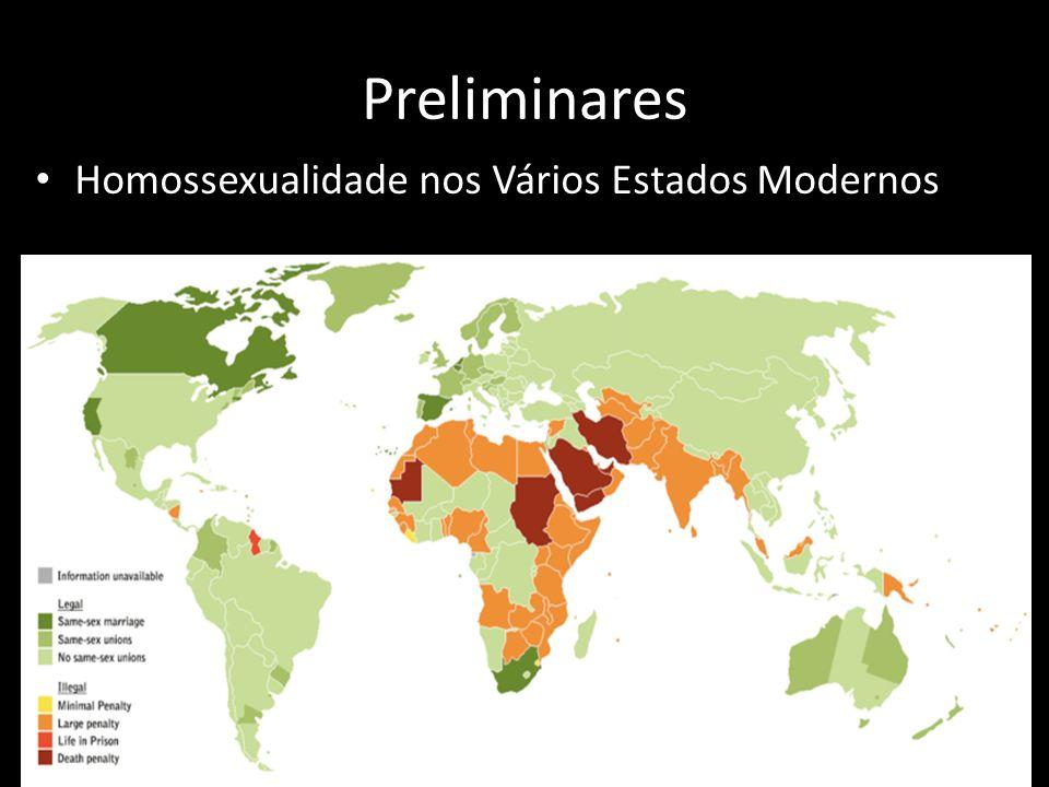 Preliminares Homossexualidade nos Vários Estados Modernos