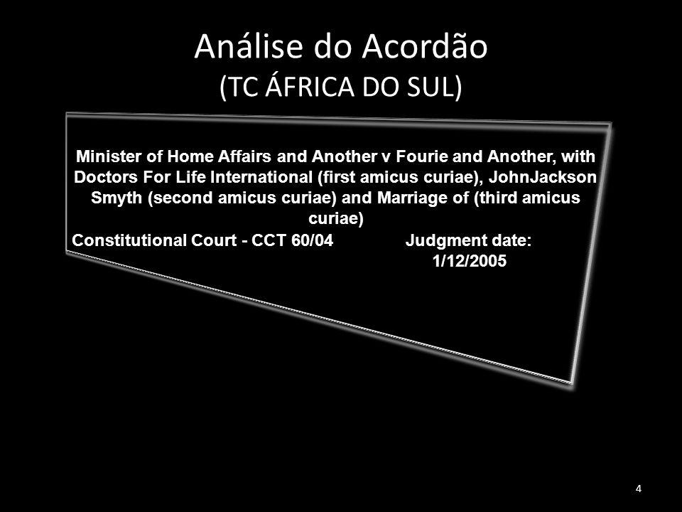 Análise do Acordão (TC ÁFRICA DO SUL)