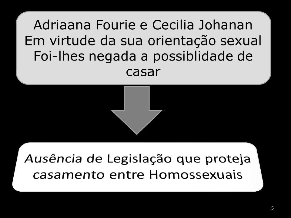 Ausência de Legislação que proteja casamento entre Homossexuais