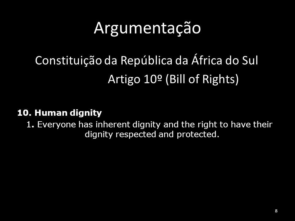 Argumentação Constituição da República da África do Sul