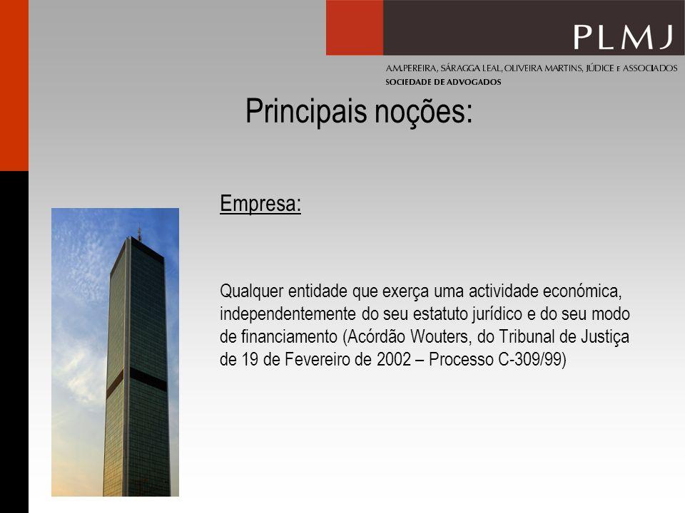 Principais noções: Empresa: