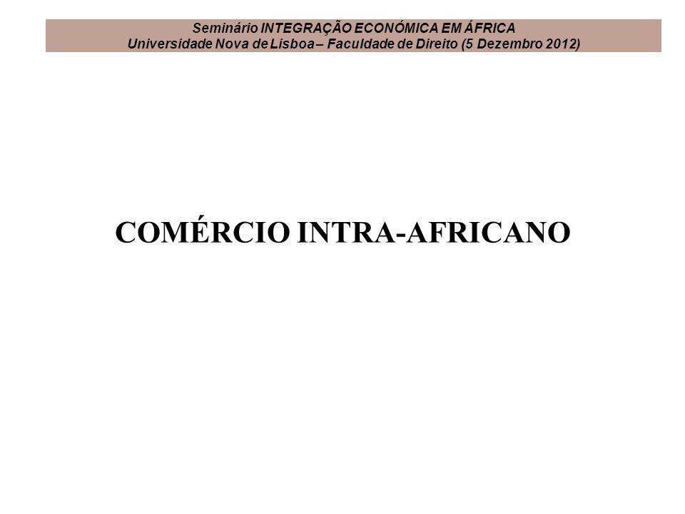 COMÉRCIO INTRA-AFRICANO