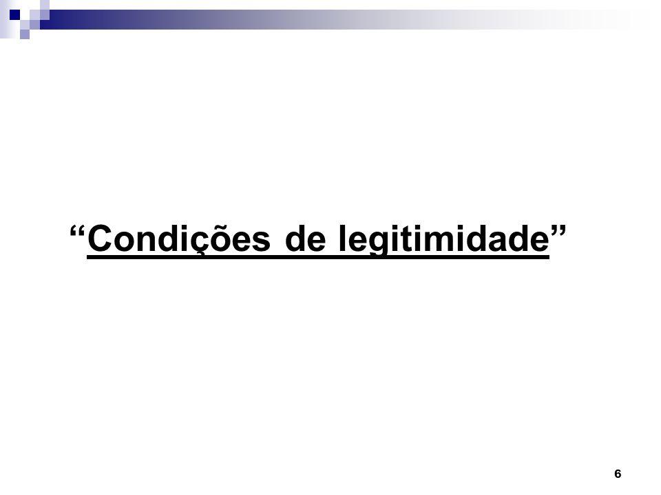 Condições de legitimidade