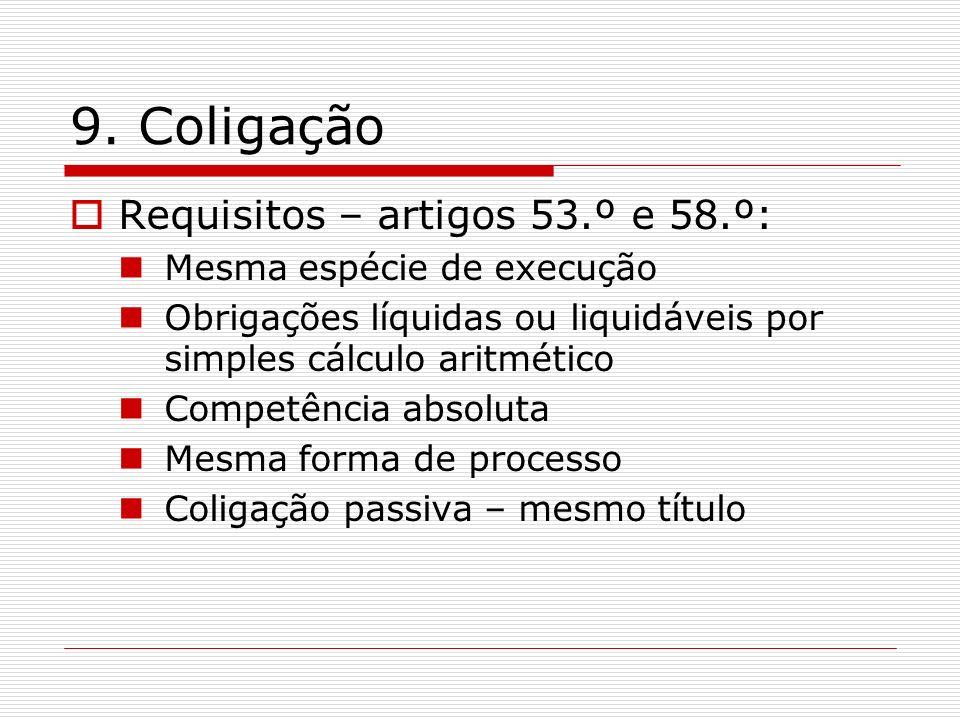 9. Coligação Requisitos – artigos 53.º e 58.º: