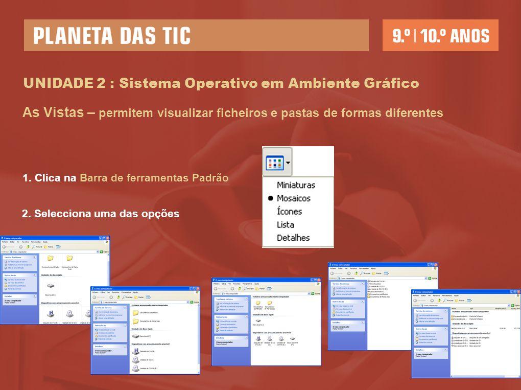 UNIDADE 2 : Sistema Operativo em Ambiente Gráfico