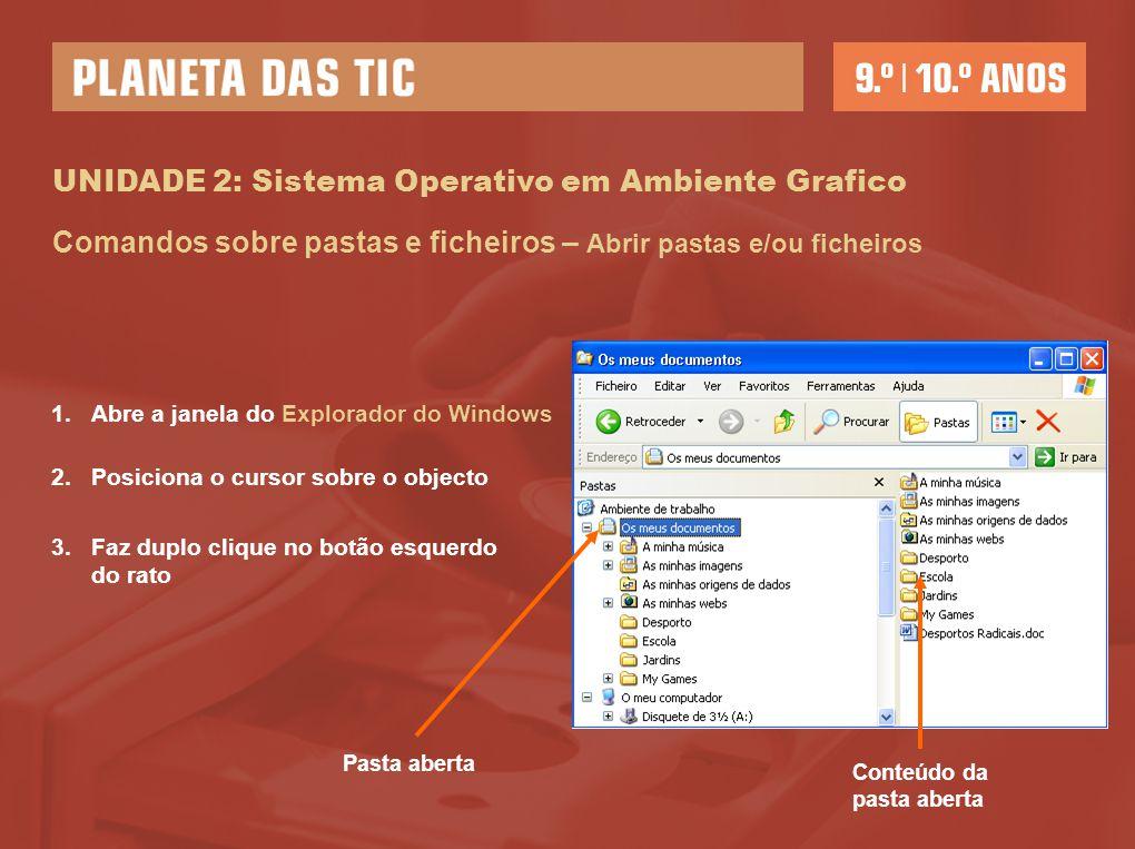 UNIDADE 2: Sistema Operativo em Ambiente Grafico
