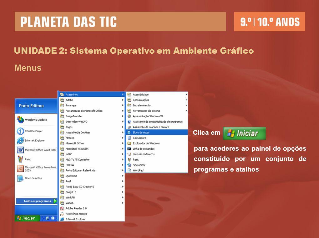 UNIDADE 2: Sistema Operativo em Ambiente Gráfico